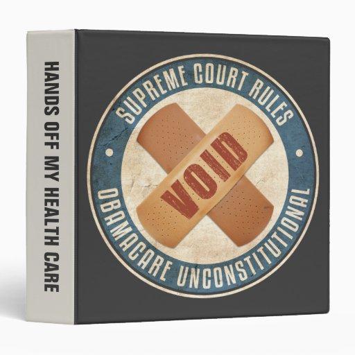 Obamacare Unconstitutional Vinyl Binder