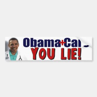 "ObamaCare: ¡""Usted mentira! "" Pegatina Para Auto"