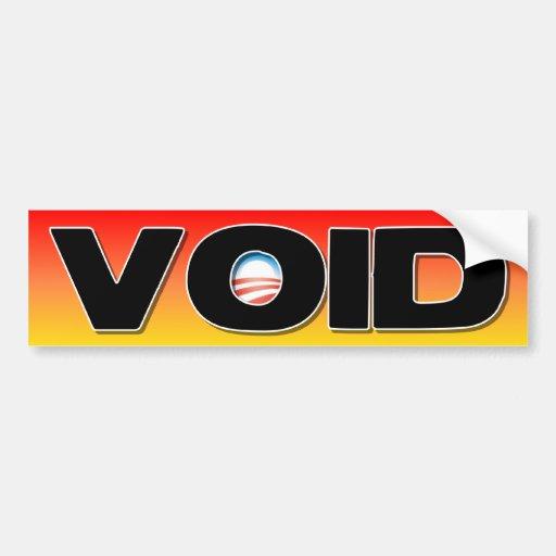 ObamaCare: VACÍO Pegatina Para Auto