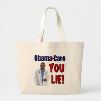 """ObamaCare: """"You Lie!"""" Large Tote Bag"""