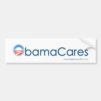 ObamaCares Bumper Sticker (Blue on White) Car Bumper Sticker