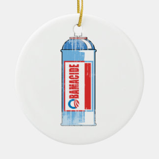 OBAMACIDE - Faded png Christmas Tree Ornaments