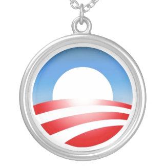 Obamacircle Round Pendant Necklace