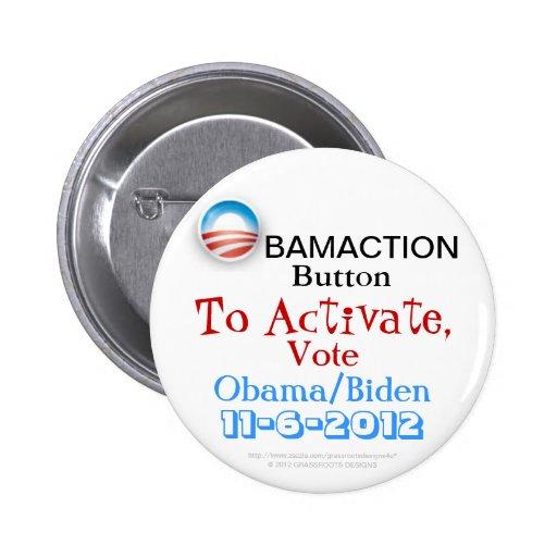 Obamaction Button To Activate, Vote Obama / Biden
