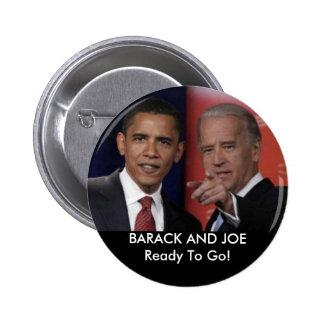 obamadebate, BARACK AND JOEReady To Go! Pins