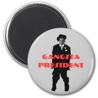 obamagangsta, Gangsta President 2 Inch Round Magnet