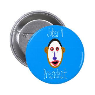 obamajoker, comodín 4, presidente pin redondo 5 cm