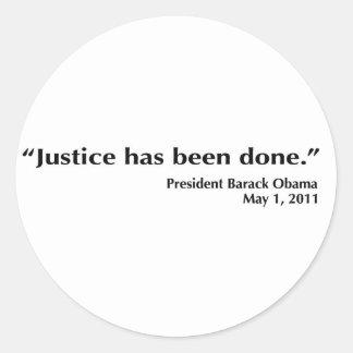 ObamaJustice Classic Round Sticker
