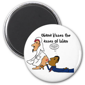 obamakissesme, Obama kisses the asses of Islam 2 Inch Round Magnet