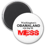 Obamaland de Washington un lío gordo grande Imán De Frigorifico