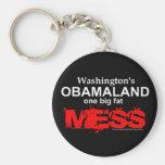 Obamaland de Washington un lío gordo grande Llavero