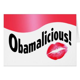 ¡Obamalicious! Tarjeta De Felicitación