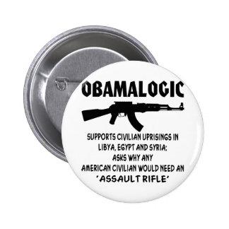 Obamalogic apoya la sublevación civil en Siria y Pin Redondo 5 Cm