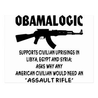 Obamalogic Supports Civilian Uprising in Syria & Postcard