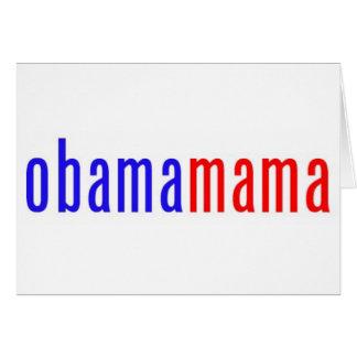 Obamamama 1 greeting card