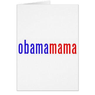 Obamamama 1 tarjeta de felicitación