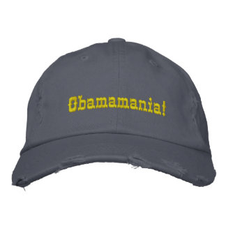 Obamamania! Hat - Customized Embroidered Baseball Cap