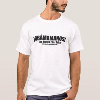 Obamamanos: Las manos que toman la camiseta