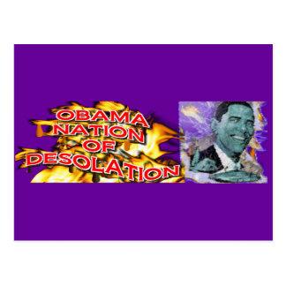 ObamaNation ABOMINATION DESOLATION Postcard