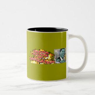 ObamaNation ABOMINATION DESOLATION Two-Tone Coffee Mug
