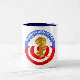 obamanation care take everything Two-Tone coffee mug
