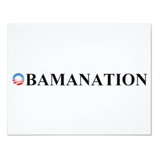 "OBAMANATION 4.25"" X 5.5"" INVITATION CARD"