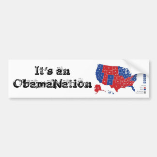 ObamaNation Pegatina Para Auto