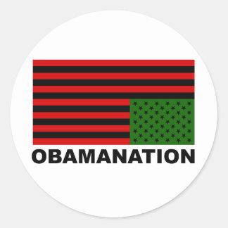 Obamanation Pegatina Redonda