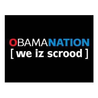 OBAMANATION - somos scrood Tarjetas Postales