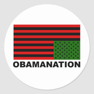 Obamanation Classic Round Sticker