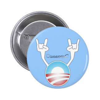 Obamaniac Pinback Buttons