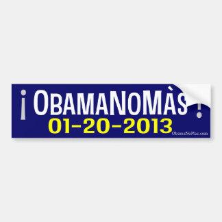 ¡OBAMANOMAS! 01-20-2013 PEGATINA DE PARACHOQUE