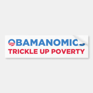 Obamanomics Car Bumper Sticker