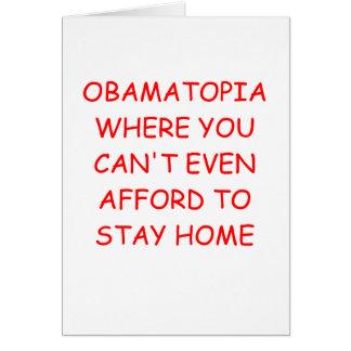 obamanomics greeting card