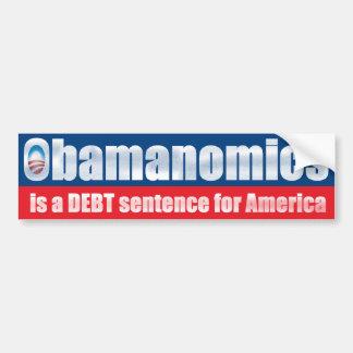 Obamanomics - Debt Sentence Car Bumper Sticker