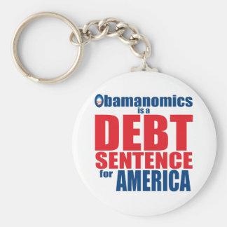 Obamanomics - Debt Sentence Keychain