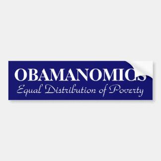 OBAMANOMICS - Equal Distribution... Bumper Sticker Car Bumper Sticker