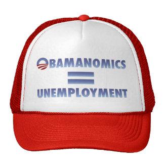 Obamanomics Equals Unemployment Mesh Hats