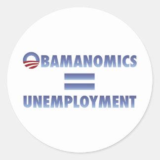 Obamanomics Equals Unemployment Sticker