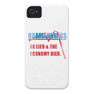 Obamanomics - He lied and the economy died Faded.p iPhone 4 Case-Mate Cases