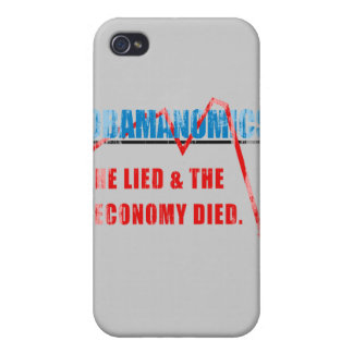 Obamanomics - He lied and the economy died Faded.p iPhone 4 Case
