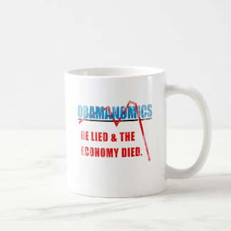 Obamanomics - He lied and the economy died Faded.p Coffee Mugs