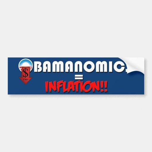 Obamanomics + Inflation Car Bumper Sticker