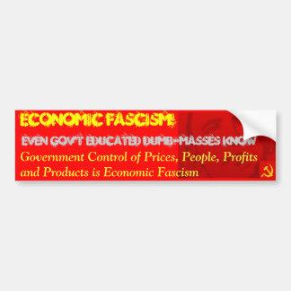 Obamanomics is Economic Fascism Car Bumper Sticker