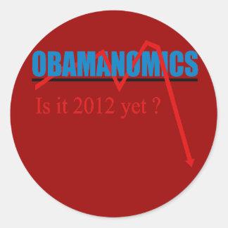 Obamanomics - is it 2012 yet? sticker