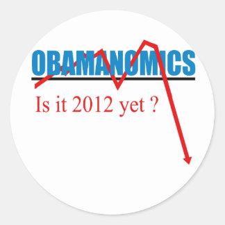 Obamanomics - is it 2012 yet? round stickers