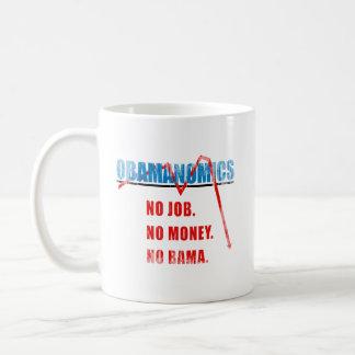 Obamanomics - ningún trabajo. Ningún dinero. Nobam Tazas