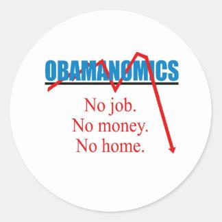 Obamanomics - No job No money No home Stickers