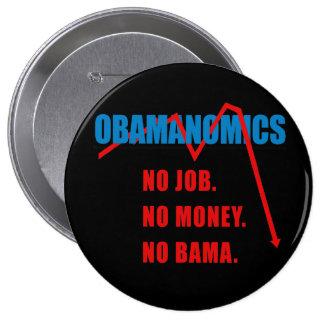 Obamanomics - No job. No money. Nobama 4 Inch Round Button