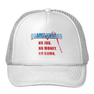 Obamanomics - No job. No money. Nobama Faded.png Trucker Hats